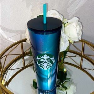 🔵Starbucks Spring 2021 Gradient Teal Cold Cup🔵